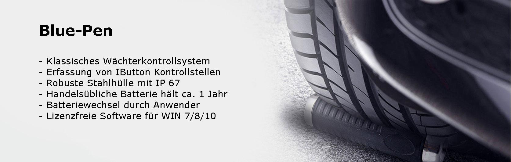 Slider-Blue-Pen Wächterkontrollsystem