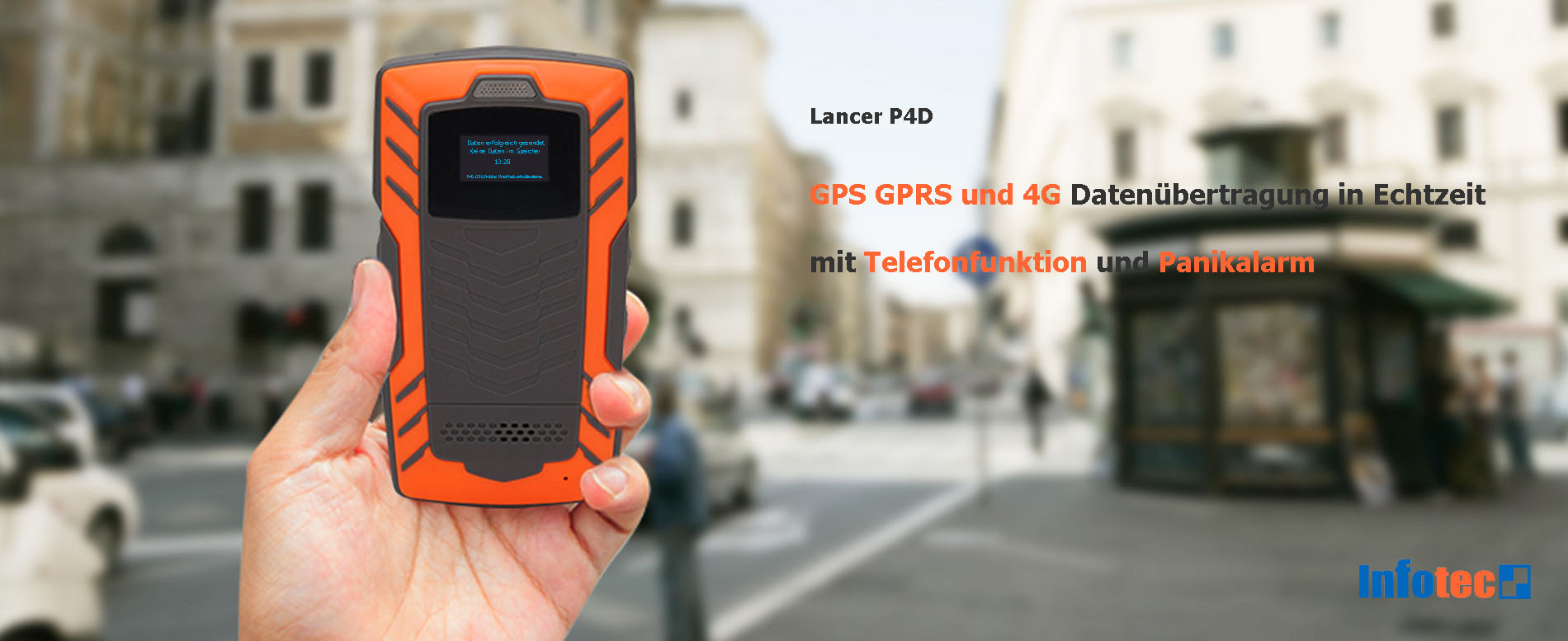 Lancer P4D GPS Datensammler